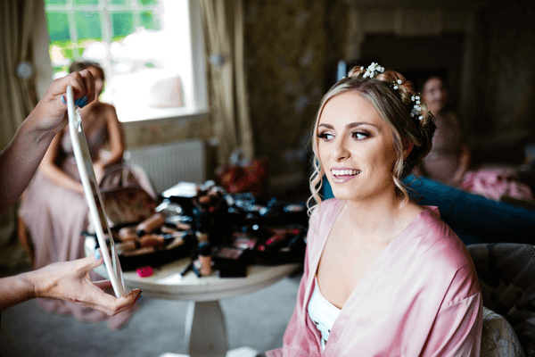 happy bride bridal makeup artist